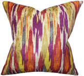 "The Pillow Collection Ulyanka Geometric Pillow Spice, 24""x24"""