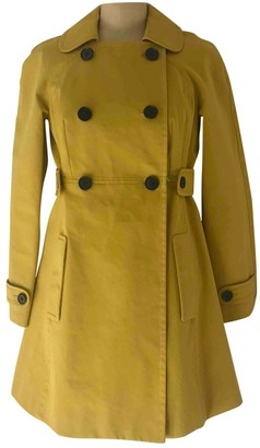 Paul Smith Yellow Cotton Trench Coat for Women