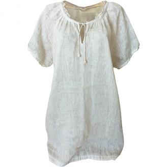 120% Lino Beige Linen Dress for Women