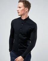 Jack and Jones Slim Premium Long Sleeve Shirt in Jersey