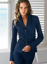 Three-button jacket in stretch cotton