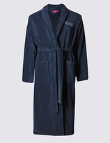 M&s Collection Cotton Rich Dad Dressing Gown