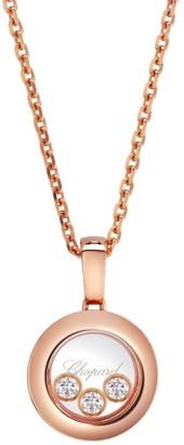 Chopard Happy Diamonds 18K Rose Gold Pendant Necklace