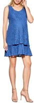 Maternal America Women's Tiered Lace Maternity Dress