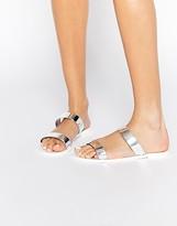 Park Lane Strap Slide Jelly Flat Sandals