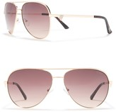 GUESS 64mm Crystal Embellished Aviator Sunglasses