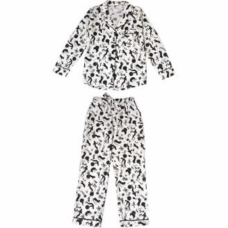 Phriya Women's White Odyssey Long Pajama Set