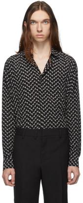 Saint Laurent Black Classic Long Sleeve Shirt