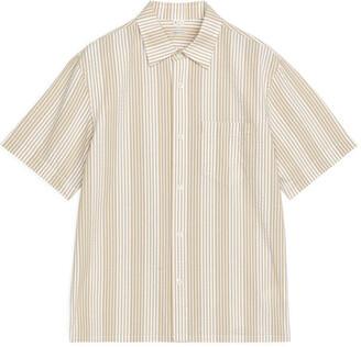 Arket Short-Sleeve Seersucker Shirt