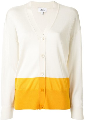 CK Calvin Klein Lightweight Colour Blocked Cardigan