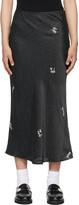 Thumbnail for your product : Ganni Black Viscose Satin Midi Skirt