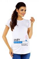 Zeta Ville Fashion Zeta Ville Maternity - Womens funny baby loading print Shirt T-shirt Top - 617c