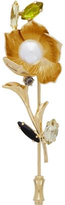 Erdem Gold Blossom Brooch