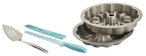 "9"" Fillable Fluted Cake Pan and Tools Set (5 PC)"