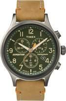 Timex Men's Analog Chronograph Beige Watch