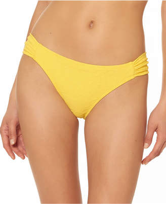 Jessica Simpson Rose Bay Textured Shirred Bikini Bottoms Women Swimsuit