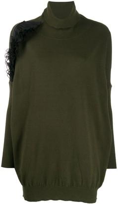 Gina ruffle-embellished jumper dress