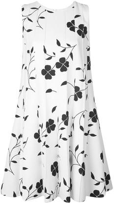 Oscar de la Renta floral print shift dress
