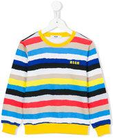 MSGM striped jumper - kids - Cotton - 12 yrs