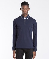 Remus Uomo Tipped Long Sleeve Polo Shirt