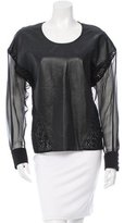 Ungaro Embroidered Leather Top