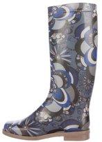 Emilio Pucci Knee-High Rain Boots