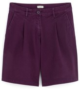 Somewhere Woman's roll-up chino shorts in stretch cotton, HASAKI