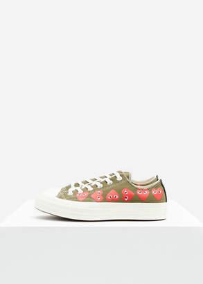 Comme des Garcons Play Converse Low Chuck Taylor Multi Heart Sneaker