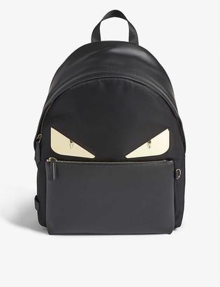 Fendi Bag Bugs leather-trimmed nylon backpack