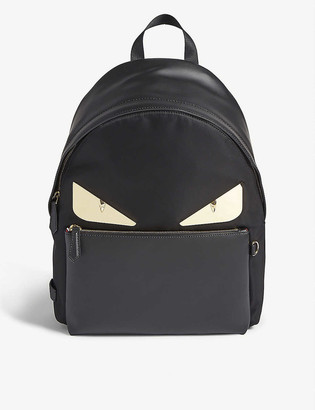 Fendi Bag Bugs woven and leather backpack