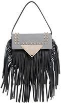Sara Battaglia Mini Cutie Fringed Leather Shoulder Bag