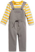 First Impressions Baby Boys' 2-Pc. Striped T-Shirt & Overall Set, Only at Macy's