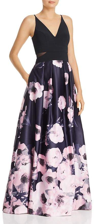 Avery G Floral Ball Gown