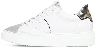 Philippe Model Temple Glittered Leather Sneakers