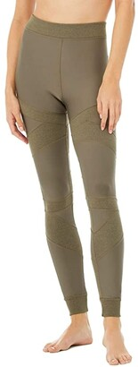 Alo High-Waist Level Up Leggings (Black) Women's Casual Pants