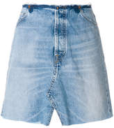 IRO asymmetric mini denim skirt