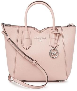 Michael Kors Mae Leather Crossbody Tote Bag