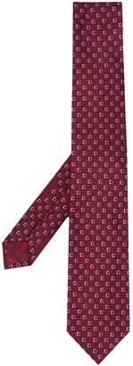 Salvatore Ferragamo Gancini print necktie