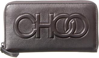 Jimmy Choo Bettina Leather Zip Around Wallet