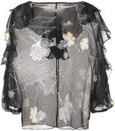 Thomas Wylde Foxglove sheer floral blouse
