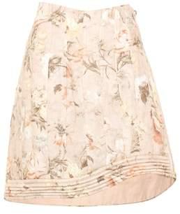 Zimmermann Bowerbird floral-printed linen skirt