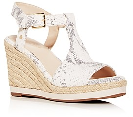 Cole Haan Women's Cloudfeel Snake-Embossed Espadrille Wedge Sandals