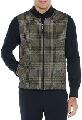 Perry Ellis Principles Plaid Quilted Vest