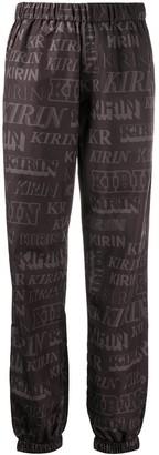 Kirin Elasticated Logo-Print Track Pants