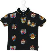 Dolce & Gabbana emblem print polo shirt