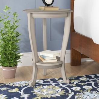 Three Posts Regan Solid Wood 3 Legs End Table with Storage Color: Vintage Gray