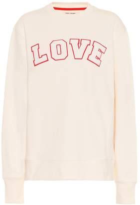 Tory Sport AppliquAd cotton-jersey sweatshirt
