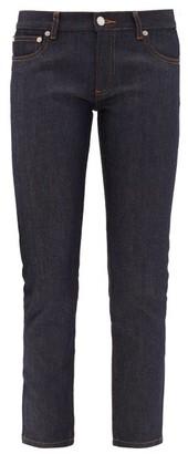 A.P.C. Etroit Mid-rise Cropped Slim-leg Jeans - Indigo