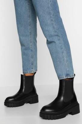 boohoo Chunky Sole Chelsea Boot