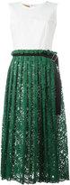 Erika Cavallini pleated lace midi dress